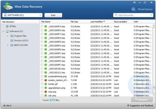 Wise Data Recovery 3.72
