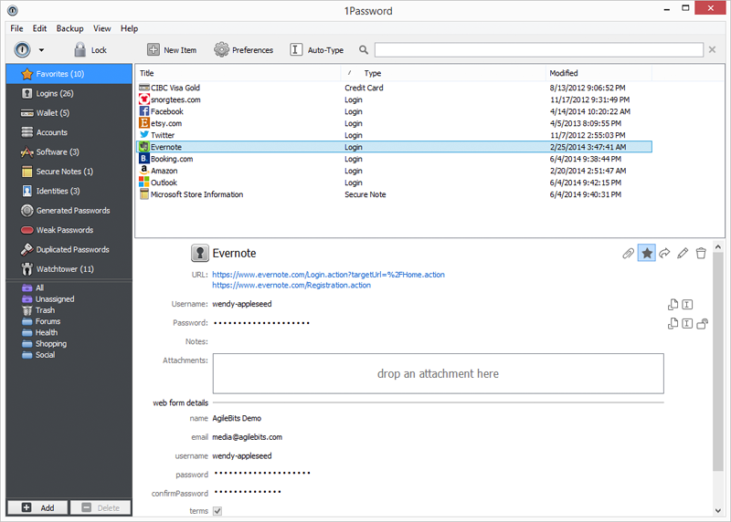 1Password for Windows 4.6.0