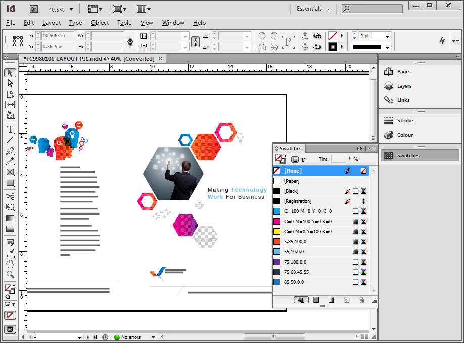 Adobe InDesign CS6 Screenshot Image