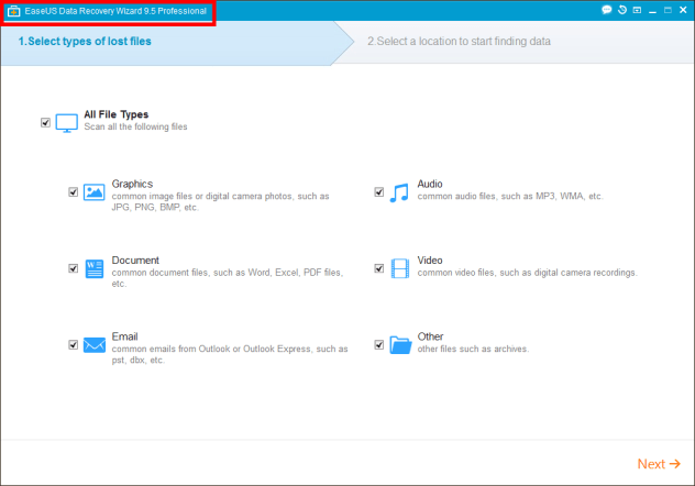 Screenshots easeus data recovery1