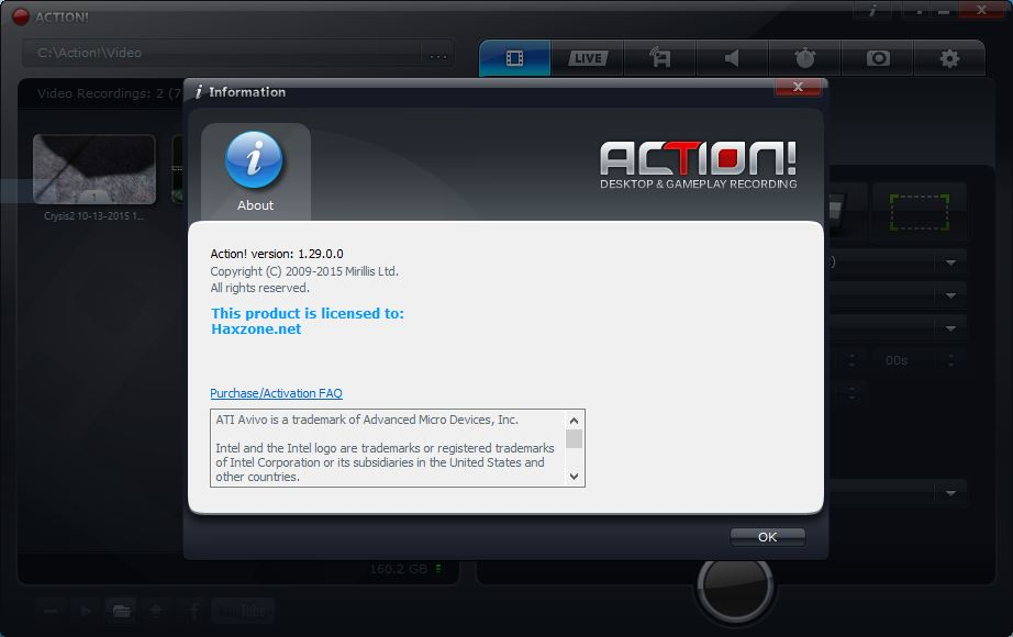 Mirillis Action! 1.29.0.0 + Crack + Key Free Download