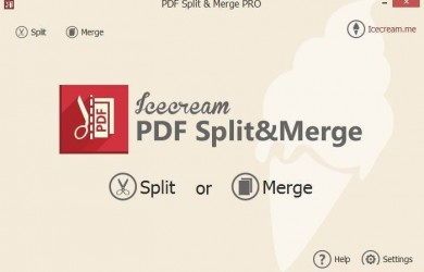 Icecream PDF Split & Merge full version