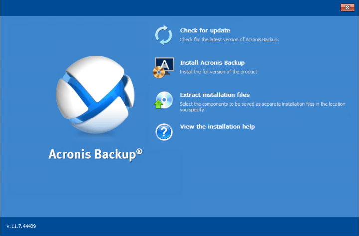 Acronis Backup Advanced Workstation Server 11.7 Full Version