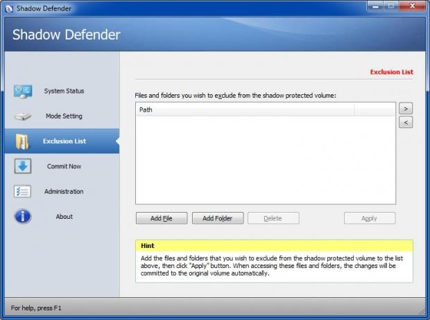 Shadow Defender 1.4.0.612 Serial Key