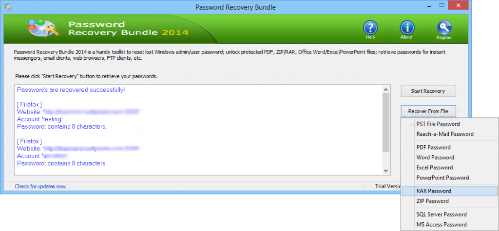 Password Recovery Bundle 2016 Crack Key Free_5