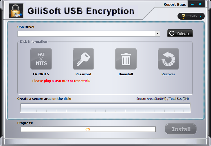 GiliSoft-USB-Stick-Encryption-Registration-Window