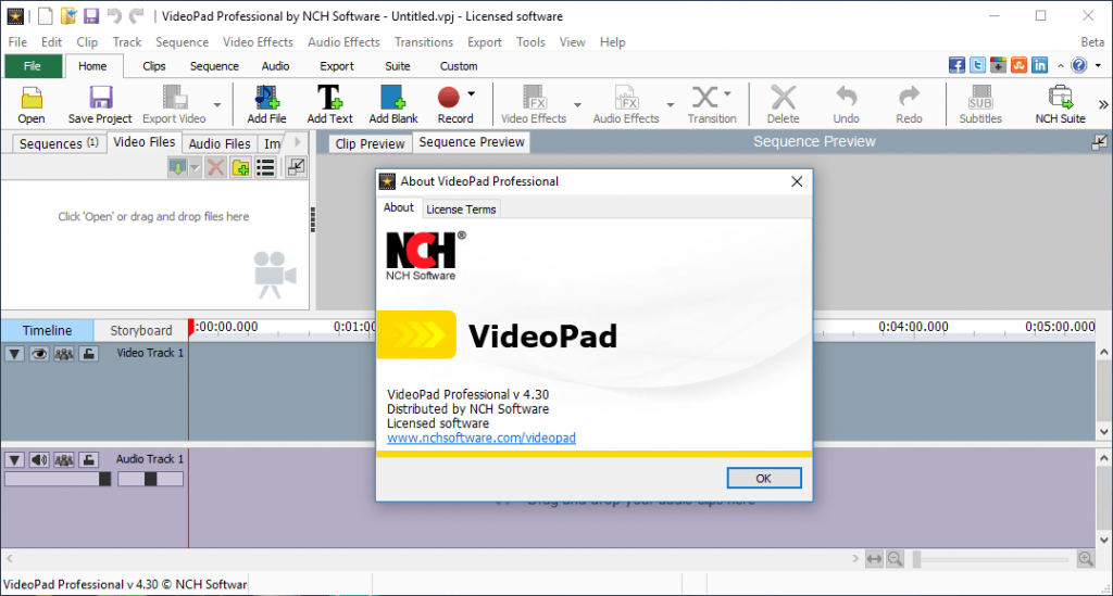 NCH VideoPad Video Editor Pro Serial Keys