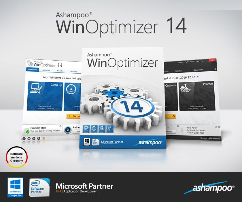 ASHAMPOO WINOPTIMIZER 14.00.02 CRACK and SERIAL KEY