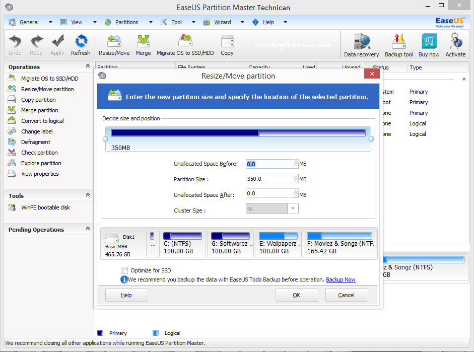 how to create partition using easeus partition master