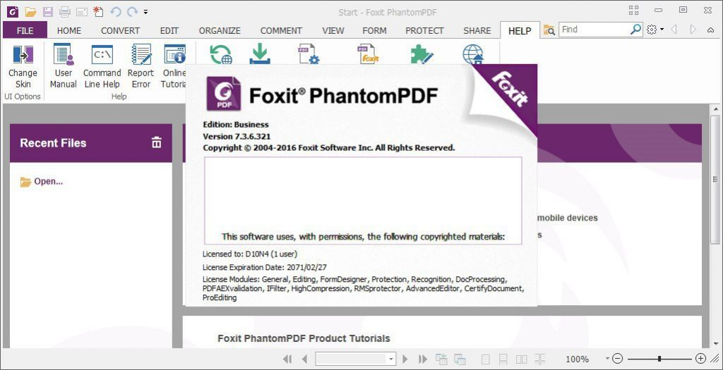 Foxit PhantomPDF Business Crack & Portable