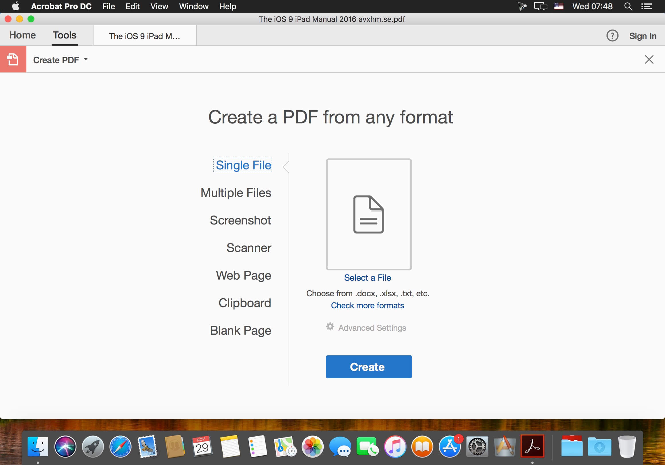 how to make adobe acrobat pro default on mac
